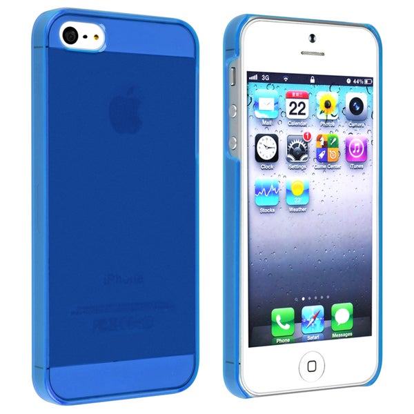 INSTEN Clear Blue Snap-on Slim Phone Case Cover for Apple iPhone 5/ 5S