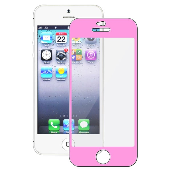 BasAcc Pink Colorful Frame Screen Protector for Apple iPhone 5