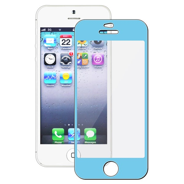 INSTEN Blue Colorful Frame Screen Protector for Apple iPhone 5