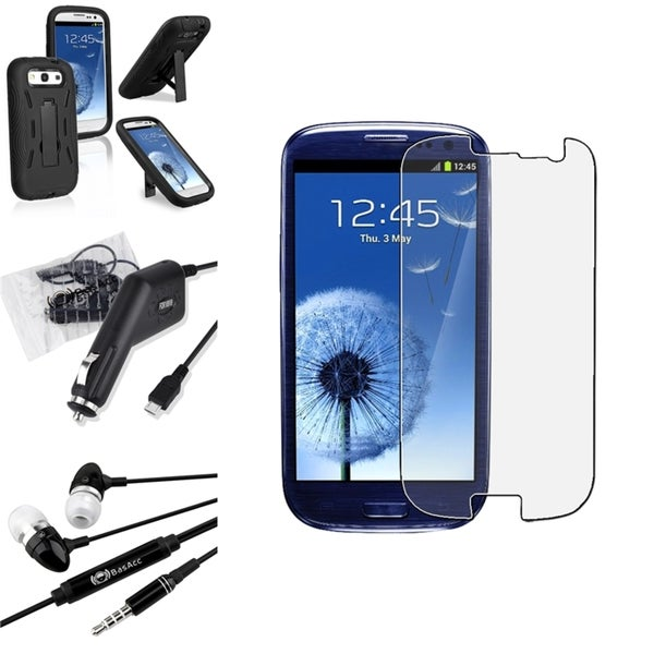 INSTEN Phone Case Cover/ Screen Protector/ Headset for Samsung Galaxy S3