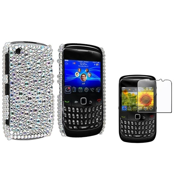 BasAcc Bling Case/ Screen Protector for Blackberry Curve 8520/ 8530