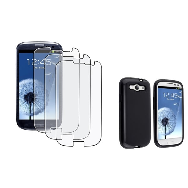 INSTEN Phone Case Cover/ Anti-glare LCD Protector for Samsung Galaxy S III/ S3