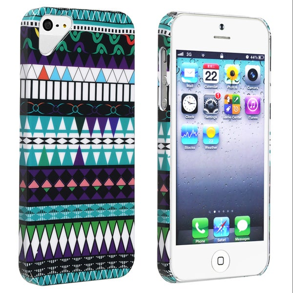 BasAcc Blue Tribe Pattern Snap-on Case for Apple iPhone 5