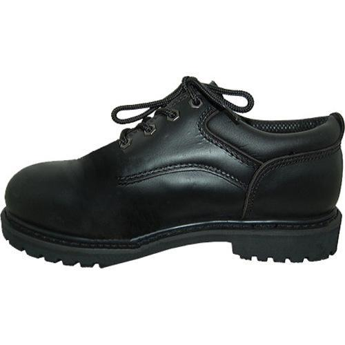 Men's American Rugged Wear Leather Steel Toe Oxford Black Leather - Thumbnail 2