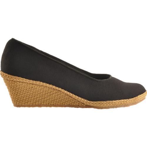 Women's Beacon Shoes Newport Black Canvas - Thumbnail 1