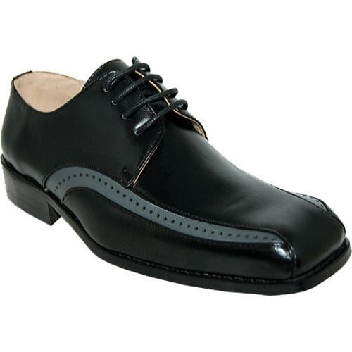 Men's Giorgio Baccini Sleek Stylish Dress Shoes Black - Thumbnail 0
