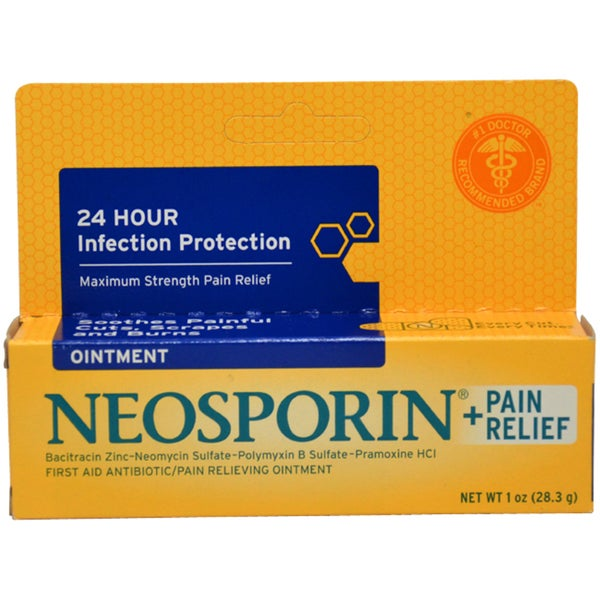 Neosporin First Aid Plus Pain Relief Antibiotic Ointment
