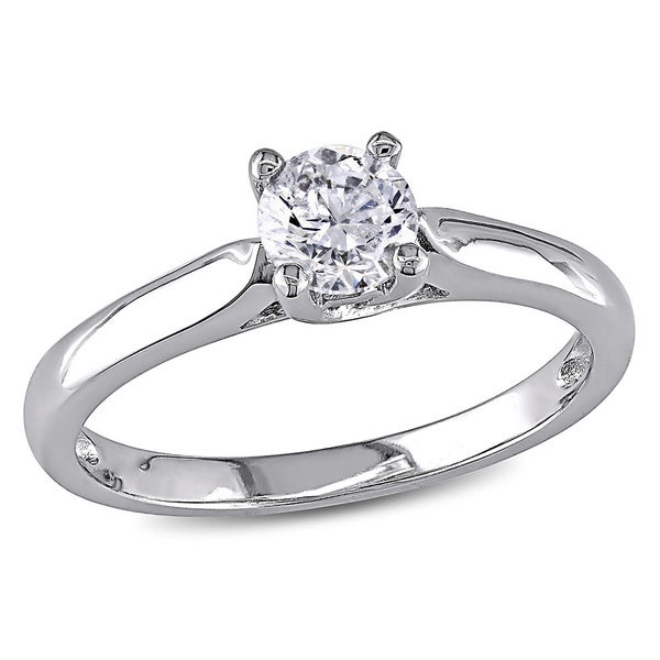 Miadora Signature Collection 14k Gold 1/2ct TDW Diamond Solitaire Engagement Ring