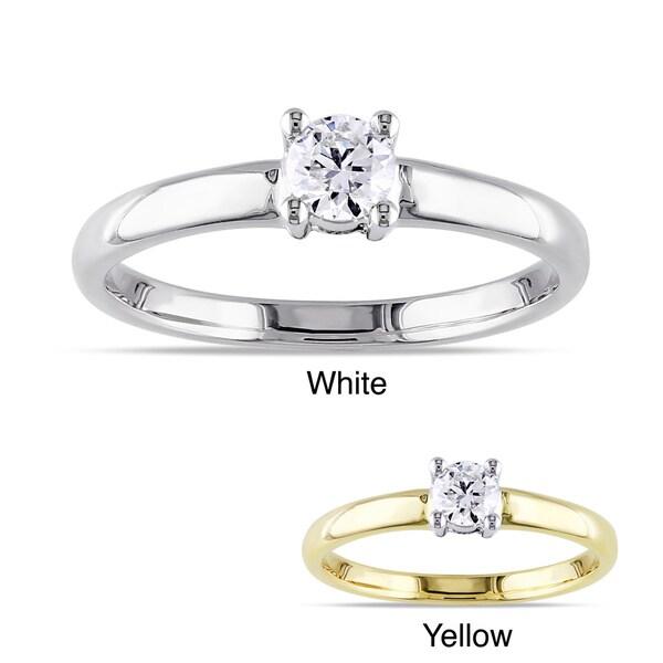 Miadora 14k Gold 1/4ct TDW Diamond Solitaire Engagement Ring (G-H, I1-I2)