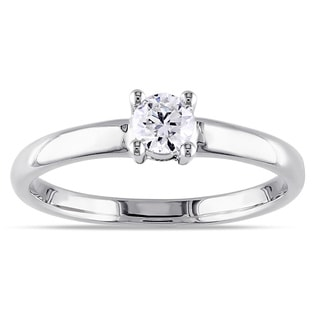 Miadora 14k Gold 1/4ct TDW Diamond Solitaire Engagement Ring