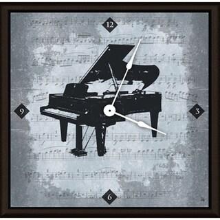 Ankan 'Vintage Piano' Framed Clock Art