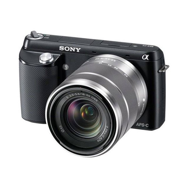 Sony Alpha NEX-F3 Mirrorless Black Digital Camera with 18-55mm Lens