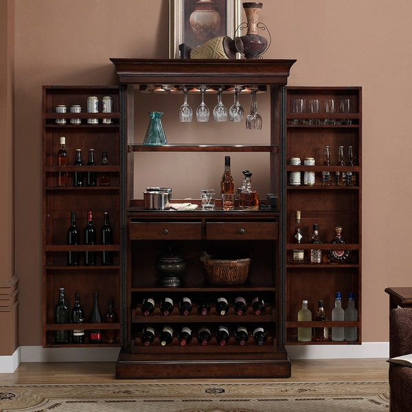 Home Bar Furniture: Ashley Heights Home Bar Wine Cabinet