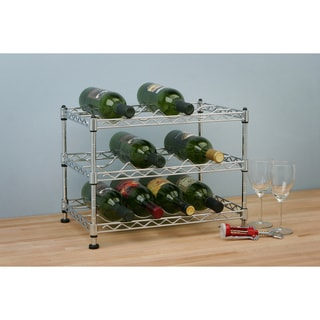 Seville Zinc 12-bottle Stackable Wine Rack