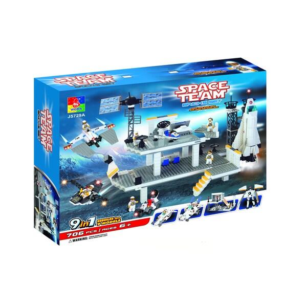 Fun Blocks Space Station 9-in-1 Brick Set