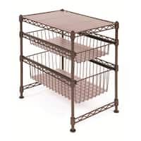 Seville Bronze Stackable Kitchen Cabinet Organizer