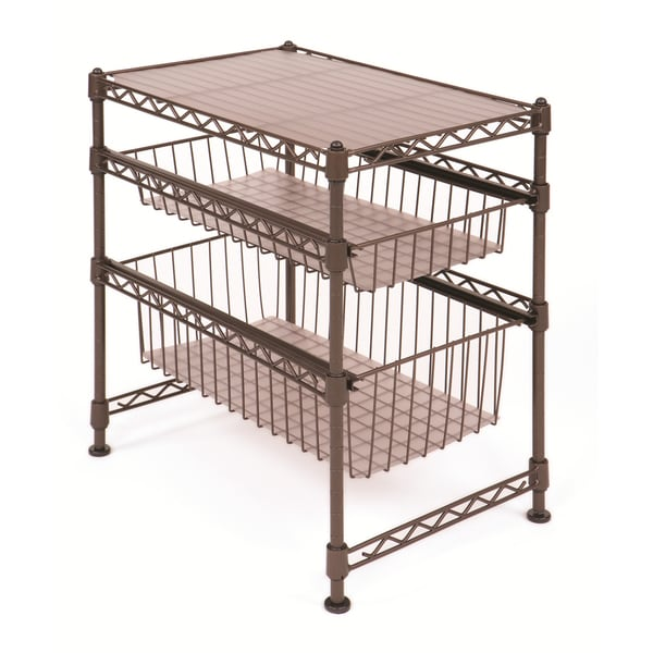 Seville Bronze Stackable Kitchen Cabinet Organizer