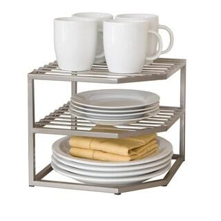 Seville Classics 2-Tier Corner Kitchen Cabinet Organizer
