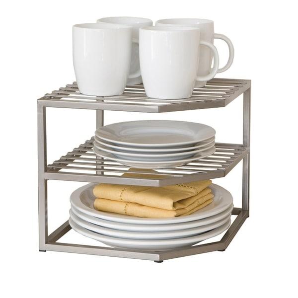 Shop Seville Classics 2-Tier Iron Corner Shelf Kitchen