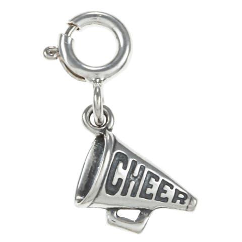 Sterling Silver 'Cheer' Megaphone Charm