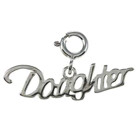 Sterling Silver 'Daughter' Charm