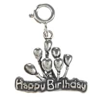 Sterling Silver 'Happy Birthday' Balloon Charm