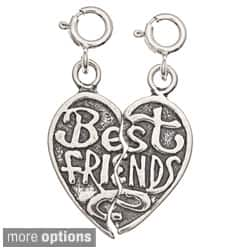 Sterling Silver 'Best Friends' Heart 2-piece Charm Set|https://ak1.ostkcdn.com/images/products/7495004/Sterling-Silver-Best-Friends-Heart-2-piece-Charm-Set-P14938475.jpg?impolicy=medium