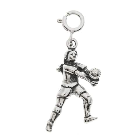 Sterling Silver Volleyball Player Charm