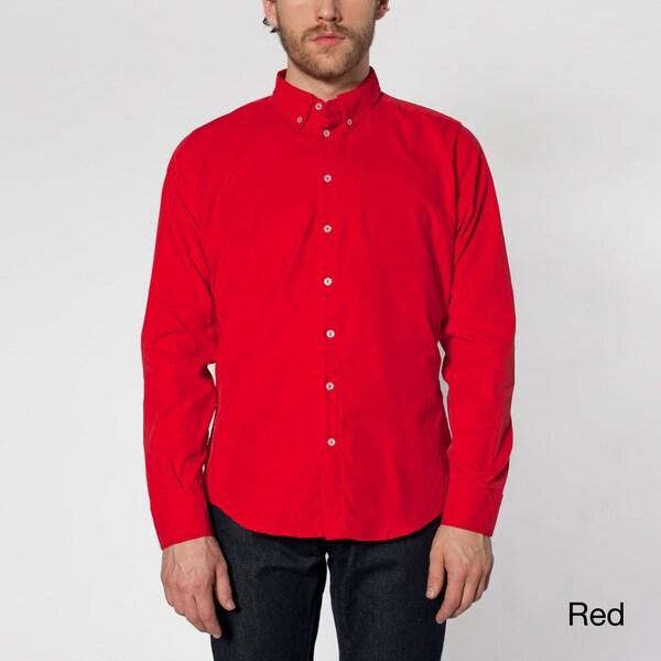 American Apparel Men's Corduroy Button-down Shirt