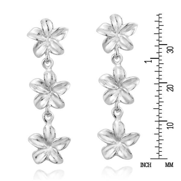 Triple 2 tone flower dangles