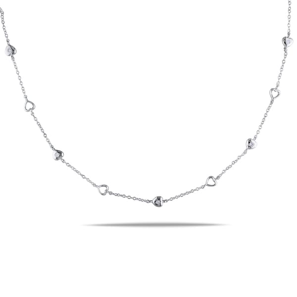 Miadora Sterling Silver 1/4ct TDW Diamond Necklace (H-I, I2-I3)