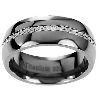 Men's Titanium Braided Inlay Wedding Band|https://ak1.ostkcdn.com/images/products/7495093/P14938563.jpg?impolicy=medium