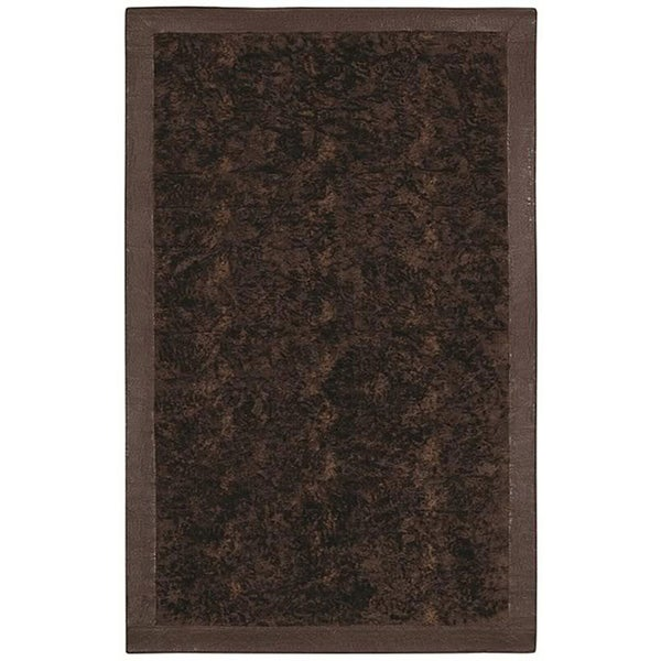 Brown Acrylic Fur Animal Rug (5'6 x 8'6)