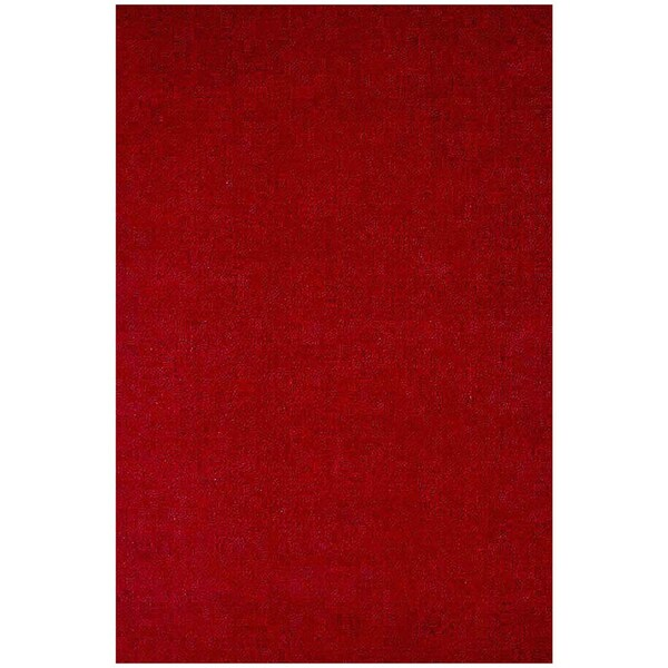 Red Hand-tufted Wool Rug (5'x 8')