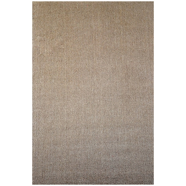 Tan Hand-tufted Wool Rug