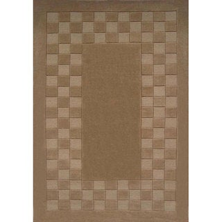 Beige Hand-tufted Wool Rug