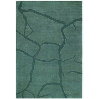 Grey Hand-tufted Wool Rug