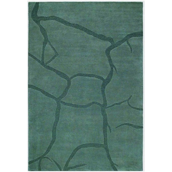 Grey Hand-tufted Wool Rug - 5' x 8'