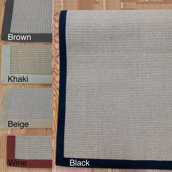 Woven Real Sisal Rug (9' x 12') - 9' x 12'