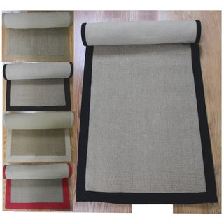 Woven Real Sisal Jute Rug (2'6 x 8') (Option: Khaki)