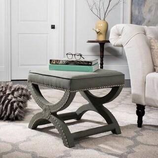 Safavieh Dante X-Bench Taupe Grey Ottoman