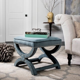 Link to Safavieh Dante X-Bench Blue Ottoman Similar Items in Living Room Furniture