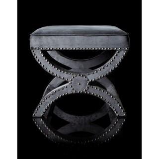 Safavieh Dante X-Bench Pewter Grey Ottoman
