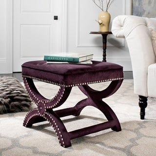 Link to Safavieh Dante X-Bench Purple Ottoman Similar Items in Living Room Furniture