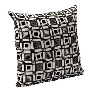 Geometric Print Square Root Accent Pillow