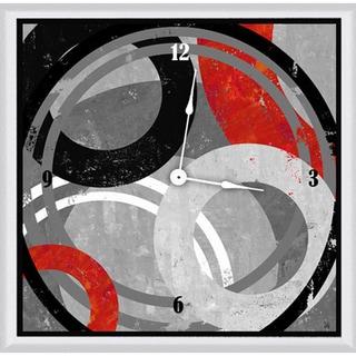 Ankan 'Target Circles' Framed Clock Art