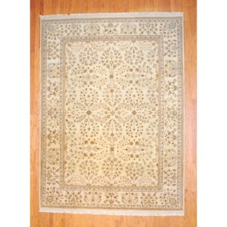 Herat Oriental Indo Hand-knotted Vegetable Dye Wool Rug (8'8 x 11'9)