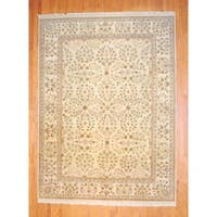 Herat Oriental Indo Hand-knotted Vegetable Dye Wool Rug - 8'8 x 11'9