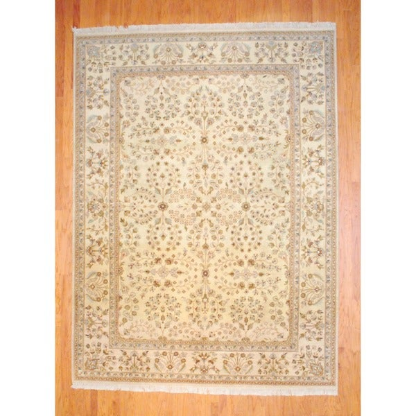 Herat Oriental Indo Hand-knotted Vegetable Dye Wool Rug (8'8 x 11'9) - 8'8 x 11'9