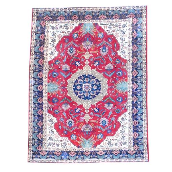 Handmade Herat Oriental Persian Heriz Wool Rug - 8'7 x 11'2 (Iran)